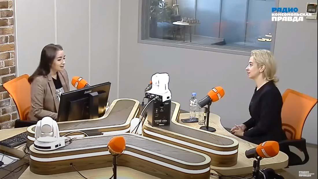 Радио «Комсомольская правда» о ВЭИА в эфире программы «Время женщин»